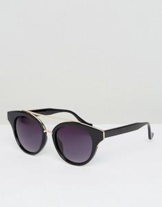 Солнцезащитные очки с декоративной планкой AJ Morgan - Черный