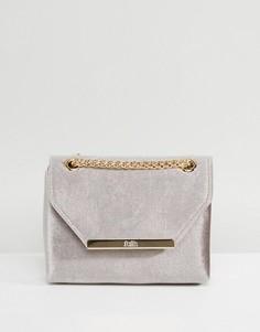 Бархатная сумка через плечо Faith - Серый