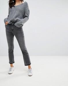 Черные укороченные расклешенные джинсы Abercrombie & Fitch - Черный
