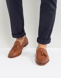 ASOS Loafers In Tan Leather With Tassel - Рыжий