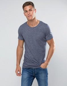 Удлиненная футболка с закругленным краем Tom Tailor - Темно-синий