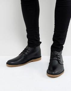 Черные кожаные дезерты Selected Homme Royce - Черный