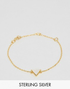 Браслет с лунным камнем и покрытием из розового золота 14 карат Carrie Elizabeth - Золотой