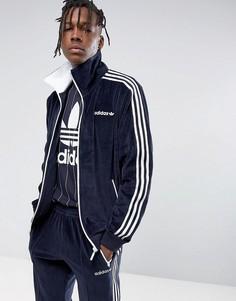 Темно-синяя велюровая куртка adidas Originals Osaka CV8959 - Темно-синий