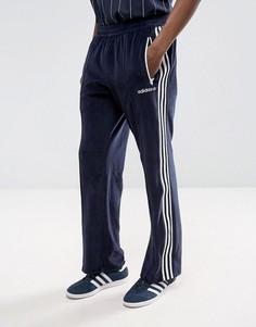 Темно-синие велюровые джоггеры adidas Originals Osaka CV8960 - Темно-синий