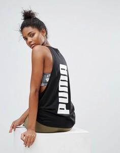 Майка с логотипом Puma Archive - Черный