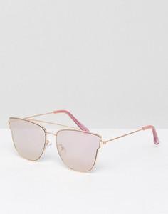Розово-золотистые зеркальные солнцезащитные очки ALDO Chelirien - Золотой