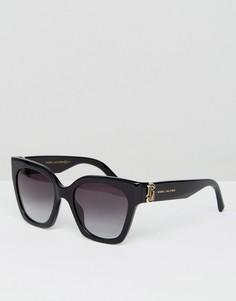 Черные солнцезащитные очки кошачий глаз с логотипом Marc Jacobs - Черный