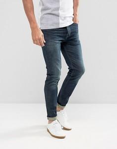 Темно-синие эластичные джинсы скинни United Colors of Benetton - Синий