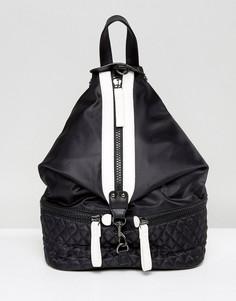Мешковатый черно-белый рюкзак с молнией Yoki - Черный