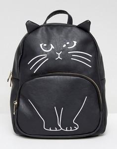 Рюкзак с дизайном кошки Yoki - Черный