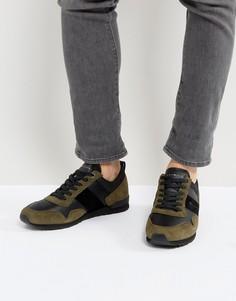 Оливковые замшевые кроссовки Tommy Hilfiger Maxwell - Зеленый
