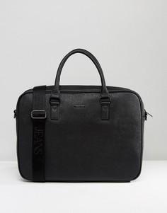 Черный портфель из сафьяновой кожи Armani Jeans - Черный