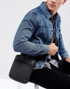 Черная сумка для авиаперелетов Armani Jeans Saffiano - Черный