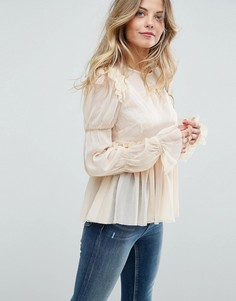 Свободная блузка с оборками ASOS - Черный