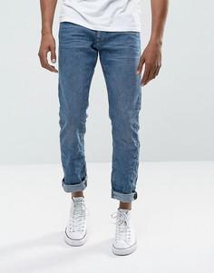Синие прямые джинсы с выбеленным эффектом Esprit - Синий