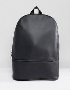 Рюкзак с молнией у основания ASOS - Черный