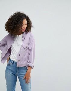 Сиреневая вельветовая куртка ASOS - Фиолетовый