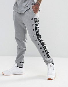 Серые спортивные штаны с логотипом Napapijri Tier 1 - Темно-синий