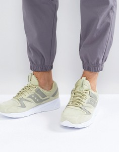 Зеленые замшевые кроссовки Saucony Grid 8500 HT S70370-2 - Зеленый