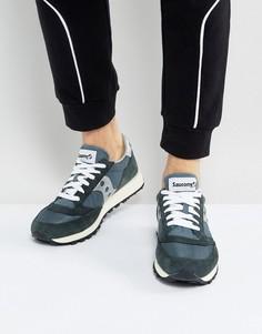 Темно-синие кроссовки в винтажном стиле Saucony Jazz Original S70368-4 - Темно-синий