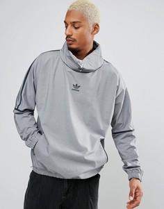 Серый свитшот с воротником-стойкой и кантом adidas Originals Chicago Pack BK5866 - Серый
