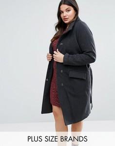 Классическое пальто Junarose - Серый
