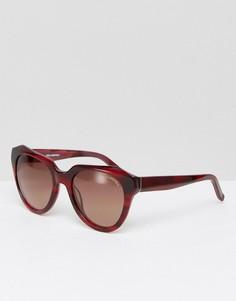 Солнцезащитные очки с мраморным эффектом Karl Lagerfeld - Коричневый