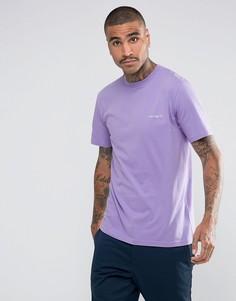 Фиолетовая футболка с вышитым логотипом Carhartt WIP - Фиолетовый