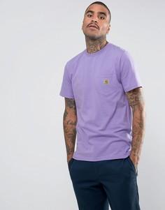 Фиолетовая футболка с карманом Carhartt WIP - Фиолетовый