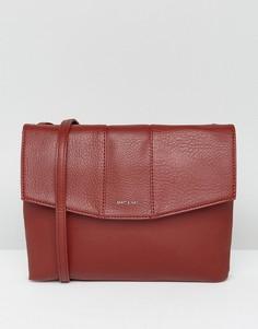 Темно-красная сумка через плечо с клапаном Matt & Nat - Красный