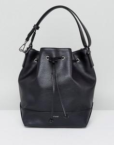 Черная сумка на плечо со шнурком Matt & Nat - Черный