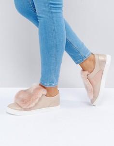 Кроссовки с искусственным мехом ALDO Athelina - Розовый