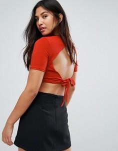 Укороченный топ Glamorous - Красный