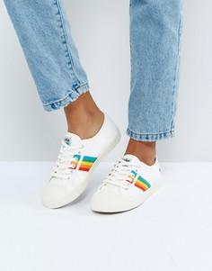 Бежевые кроссовки с радужной отделкой Gola Coaster - Белый