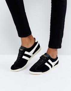 Черные замшевые кроссовки Gola Bullet - Черный