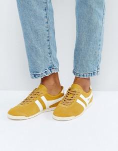 Замшевые кроссовки горчичного цвета Gola Bullet - Желтый