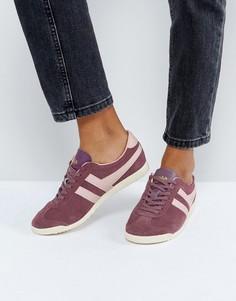Красные замшевые кроссовки с розовой отделкой Gola Bullet - Красный
