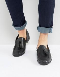 Черные кожаные лоферы с кисточками Frank Wright - Черный