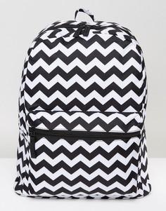 Рюкзак с зигзагообразным принтом 7X - Черный