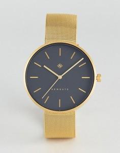 Золотистые часы с сетчатым браслетом Newgate The Drumline - Золотой