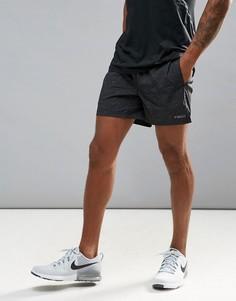 Спортивные шорты из быстросохнущей ткани с принтом Jack & Jones Tech - Черный