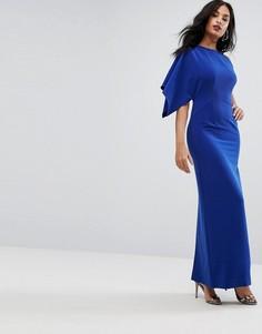 Структурированное платье на одно плечо AQ/AQ - Синий