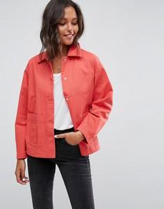Выбеленная хлопковая куртка ASOS - Красный