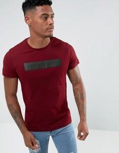 Бордовая футболка с логотипом Versace Jeans - Красный