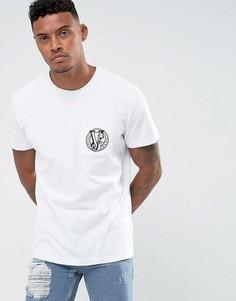 Белая футболка с логотипом на груди Versace Jeans - Белый