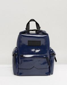 Кожаный мини-рюкзак Hunter Original Aurora Borealia - Темно-синий