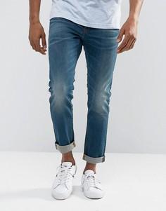 Выбеленные узкие джинсы с эффектом поношенности G-Star 3301 - Синий