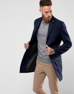 Однотонное пальто Farah Askern - Темно-синий