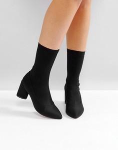 Черные ботинки на каблуке RAID Darcie - Черный
